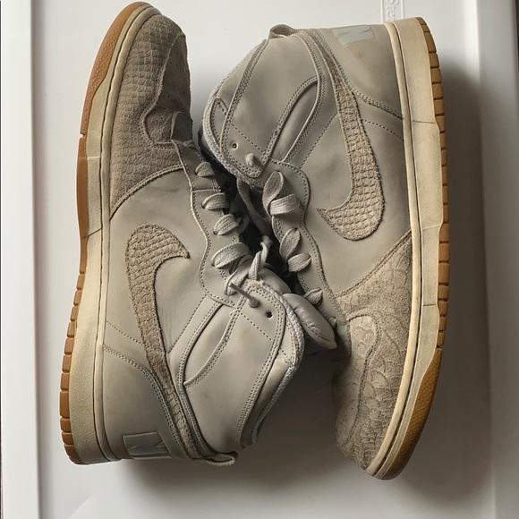 semiconductor cansada Goneryl  Nike Shoes | Grey Suede Snakeskin Pattern High Tops | Poshmark